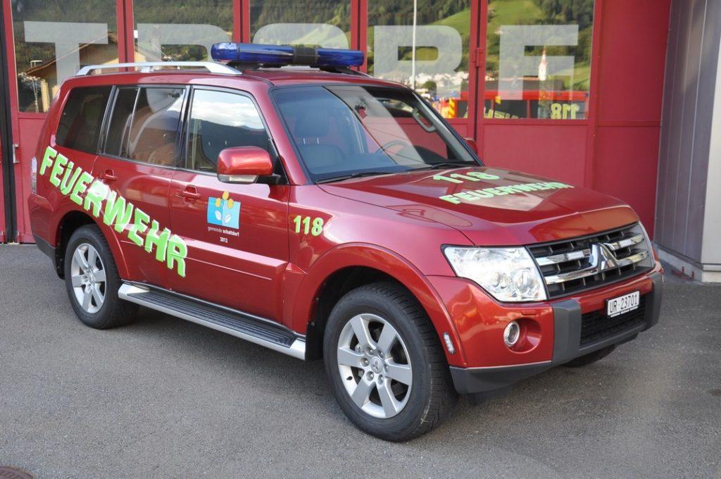 Pikettfahrzeug / Einsatzleiterfahrzeug: Mitsubishi Pajero