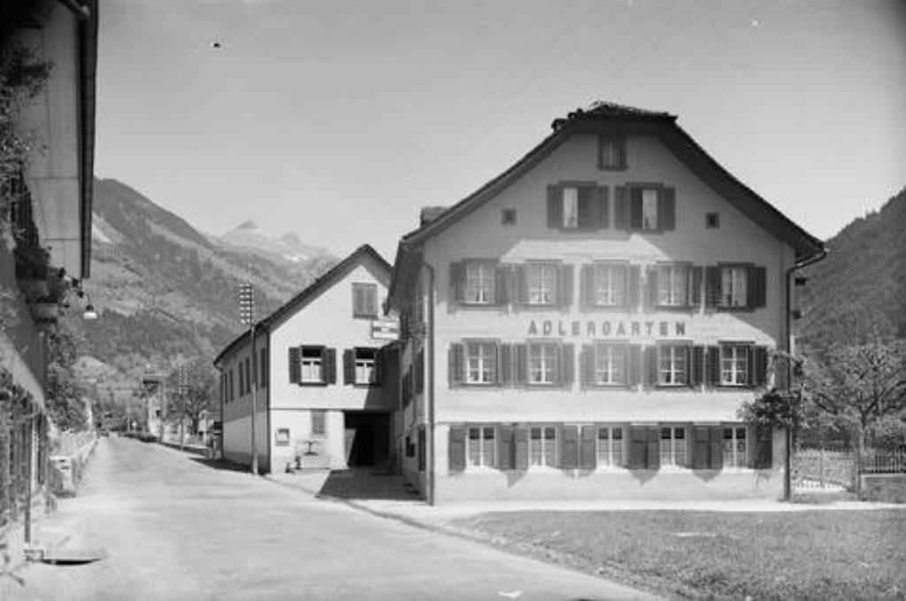Das traditionsreiche Restaurant Aldergarten beherbergte so manchen Gast aus nah und fern – Aufnahme um 1920.
