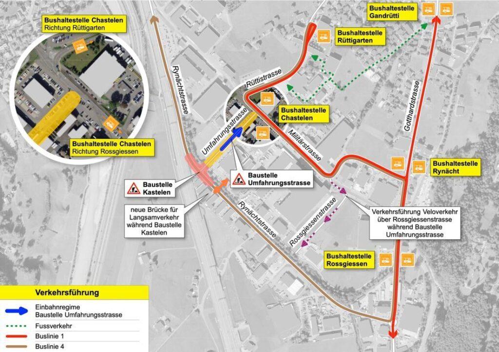 Information zur Verkehrsführung
