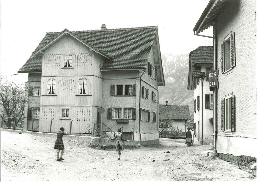 Der Schattdorfer Dorfkern Ende der Fünfziger Jahre