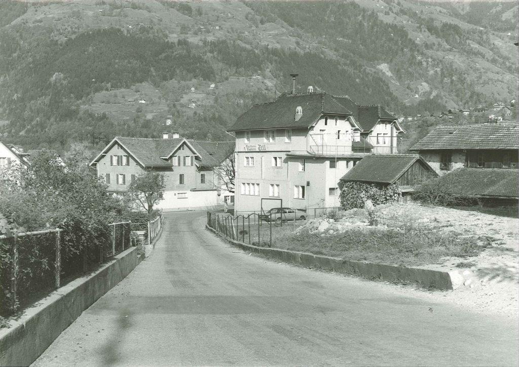 Der Dorfkern von Schattdorf um 1970